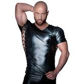 Wetlook-Shirt-Met-Rijgveters