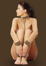 Collar-With-Hand-And-Leg-Cuffs-Brown
