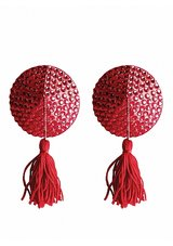 Nipple-Tassels-Round-Red