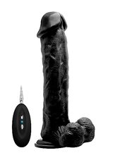 Vibrating-Realistic-Cock-11-With-Scrotum-Black