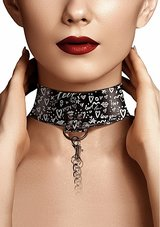 Collar-with-Leash-Love-Street-Art-Fasion-Black